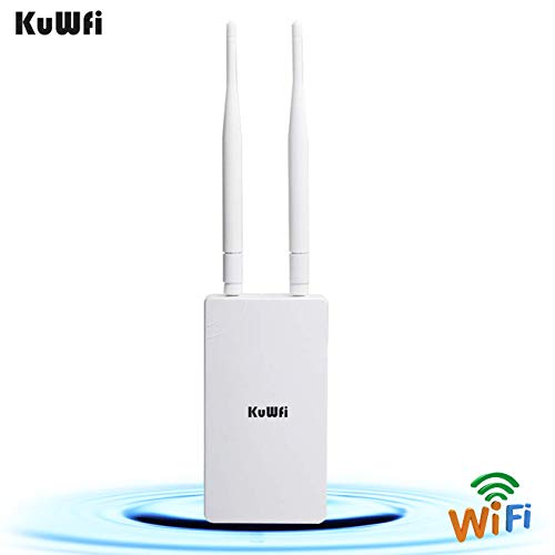 KuWFi 300Mbps Outdoor CPE Bridge Long Range WiFi Hotspot Outdoor Wireless Access Point Omnidirectional Coverage WiF Signal 48V POE Support