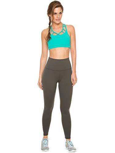 Flexmee Women Workout Leggings Gym Yoga Training Stretch Supplex Activewear Comfortable Sports Pants Pantalones Deportivos Ropa Deportiva Gray S