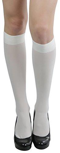 ToBeInStyle Women's Sexy Opaque Warm Knee High Long Socks Hosiery - IVORY - One Size (Hosiery Sexy)