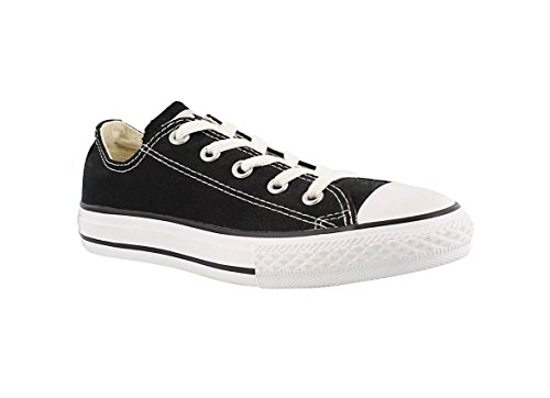 Converse All Star Low Top Kids/Youth Shoes Boys/Girls Sneakers (1.0 Kids/Youth, Low Black/White)