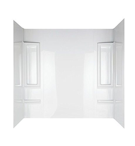 Shower Wall Kit - Delta 39984 Bathtub Wall Set, High Gloss White, 5-Piece