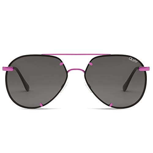 Quay Australia X Nabilla Rebelle Sunglasses in Pink Frame, Black Smoke Lens, One ()