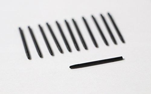 Yalis 12 Pack Replacement of Pen Standard Nib Black Stylus (Bamboo Stylus Parts)