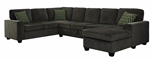 Coaster Home Furnishings 501686 Living Room Sectional Sofa, Brown/Black