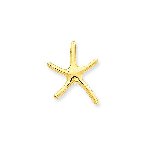(14k Gold Starfish Chain Slide (0.79 in x 0.63 in))