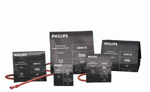 Philips - 40400B Traditional Reusable NIBP Cuff Kit multi-patient cuffs, reusable, latex-free, 5 - Nibp Cuff Reusable
