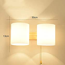 Wall lamp Bedside lamp Bedroom Simple Modern Creative Continental American Living Room Balcony Light Staircase Aisle Wall Lamps, Lemon Yellow