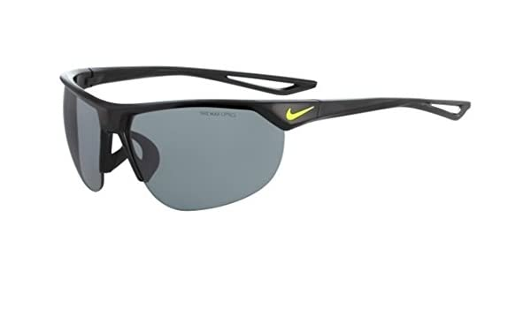 3a1b55681dfb Amazon.com : Nike Golf Cross Trainer Sunglasses, Black/Volt Frame, Grey  with Silver Flash Lens : Sports & Outdoors
