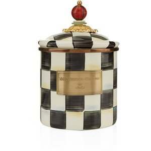 MacKenzie-Childs Courtly Check Enamel Canister - Small 6.5'' Tall x 4.75'' Diameter by MacKenzie-Childs