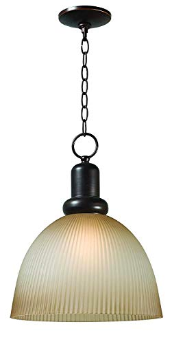 World Imports 9311-29 Loft Collection Single Light Iron Pendant, Euro Bronze ()
