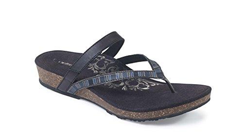 Aetrex Dames Sandalen Zwart
