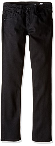 Volcom Big Boys' 2x4 Jeans, New Black, 22