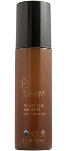 Intelligent Nutrients USDA Certified Organic Perfect Hold Hair Spray - Organic, Non-Aerosol Hair Spray with Natural Strong Hold - Free From Plastic, Phthalates + Preservatives (6.7 oz)