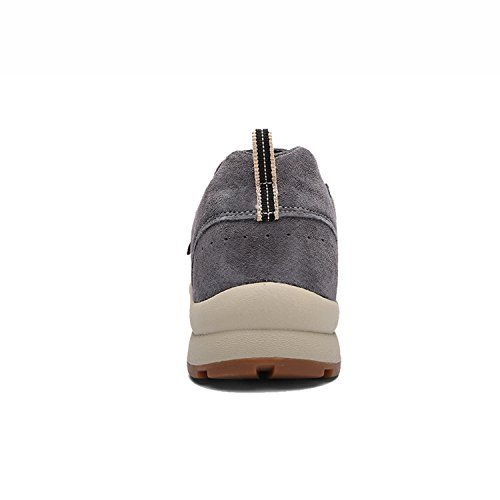 Shoe Suede Hiking CAMSSOO Slip Running Outdoors Leather Mens Grey Classic On Lightweight SS6pxv
