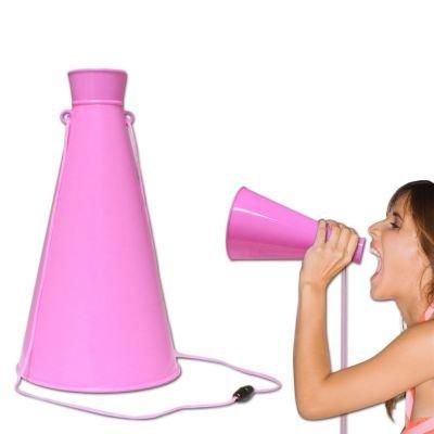 Pink Plastic Megaphone -