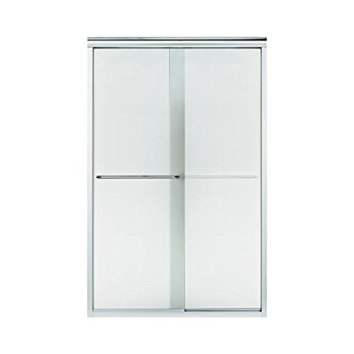 Sterling Plumbing 5375EZ-45S-G69 Finesse 44 To 45.5-In X 70.3-In Frameless Sliding Alcove Shower Door With Lake Mist Glass, 0.25-in L x 44-45.5-in W x 70.1-in H, - Shower Door Finesse G69