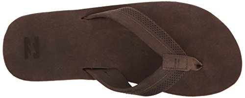 Billabong Mens All Day Premium Leather Sandal Flip Flop Chocolate vhDcB