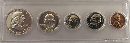 1955 P US MINT Proof set Silver Comes in Hard Case Proof ()