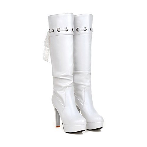 AdeeSu Womens Fashion Dress Slip-Resistant Comfort Urethane Boots SXC01726 White nnEvqy3Wz