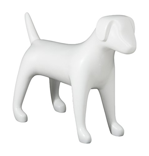 Newtech Display MA-DOG3MD/WHT Medium Terrier Dog Mannequin, 18'' Height, 24.5'' Large, Matte White by Newtech Display