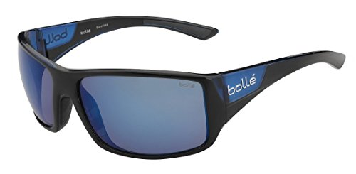Bolle Tigersnake Matte Black/Shiny Blue Polarized Offshore Blue Oleo AR, Shiny Black/Matte Blue from Bolle
