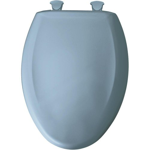 Bemis 1200SLOWT 034 Lift-Off Plastic Elongated Slow-Close Toilet Seat, Sky Blue
