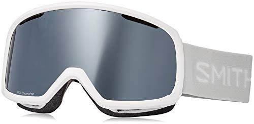 Smith Optics Riot Women's Snow Goggles - White Vapor/Chromapop Sun Platinum Mirror/One Size (Riot Ski)