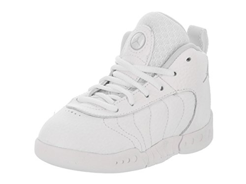 Jordan Nike Toddlers Jumpman Pro BT White/Pure Platinum Basketball Shoe 5 Infants US
