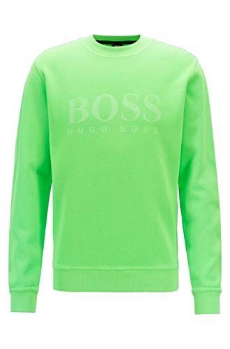 Green L BOSS Men's Weave Sweatshirt