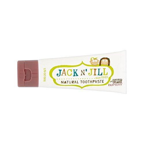 接ぎ木うっかりクロニクル有機香味50グラム天然ラズベリー歯磨き粉 (Jack N Jill) (x 4) - Jack N' Jill Raspberry Toothpaste Natural with Organic Flavouring 50g (Pack of 4) [並行輸入品]