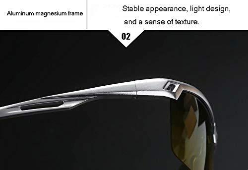 Gafas ConduccióN Polarizadas Sol De Marco Nocturna Sol Black Conductor De De Gafas VisióN DíA Noche Medio Gafas De De De De Magnesio Y De Hombres De Aluminio ET7AAHq4
