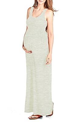 Beachcoco Women's Maternity Maxi Tank Dress