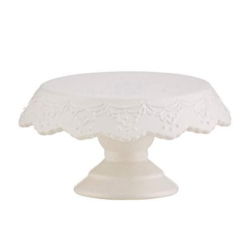 Mini Decorative Round Cake and Cupcake Pedestal Stands, 6 Inch (White Blank) (White Pedestal Cake Stand Porcelain)