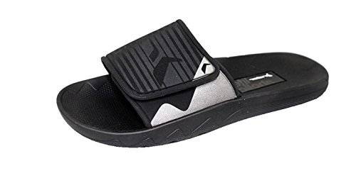Rider Brasil Vancouver Ad 2017 Black Mens Slide Sandals, Size 9 (Shoes Ryder Easy Mens)