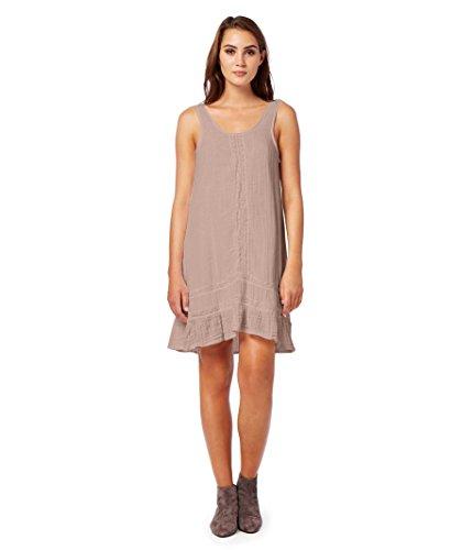 Michael Stars Women's Double Gauze Scoop-Neck Tank Dress,Mojave,M