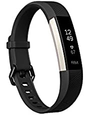 Fitbit Alta HR Health and Fitness Tracker with Heart Rate, Large - Black