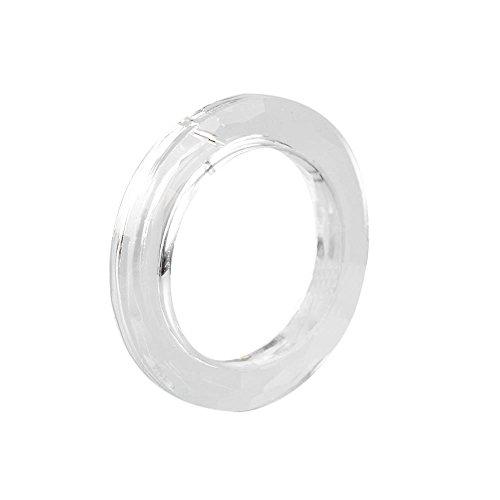 Fan-Ling 1PCS Handing Ring Chandelier Glass,Crystals Lamp Prisms Parts Drops Pendant 50mm Diameter,Home Decor,Hanging decoration,Clear Color
