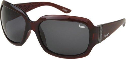 Coleman Women's CC1 6024 Polarized Sunglasses,Burgundy Frame/Smoke Lens,one - Sunglasses Coleman