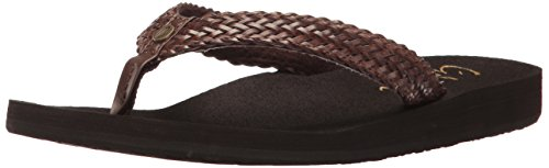 cobian Women's Lalati Flip Flop, Chocolate, 8 M US