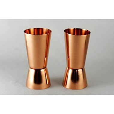 (Set of 2) Premium Quality Copper Shot Glasses / Jiggers - by Alchemade