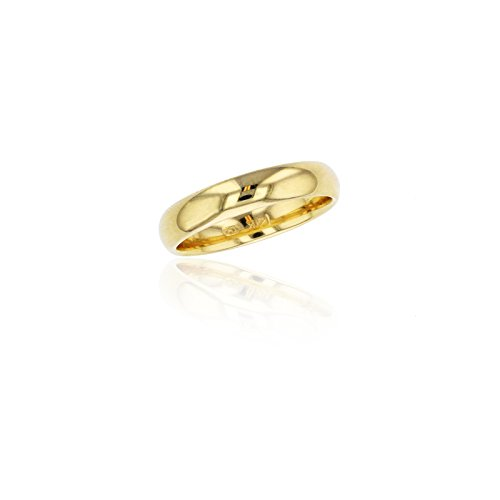 Yellow Gold Wedding Set (10K Yellow Gold 4mm Polished Plain Wedding Band)