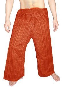 100% Heavy Cotton Thai Fisherman Pants Yoga Pregnancy Pants Striped - - Cotton Pants Thai Dragon Yoga