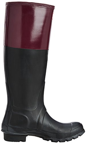 Hunter Original Colourblock - Botas Mujer Multicolor (Black/Dark Ruby)