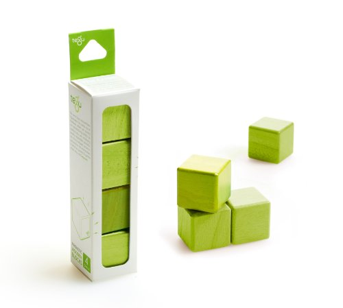 4 Piece Tegu Magnetic Wooden Block Cube Set, - Reserve Block