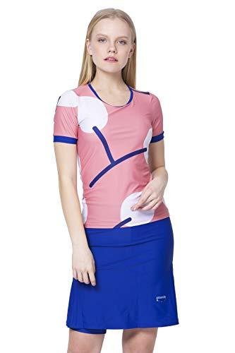 Amanda K Modest Swimwear for Women Short Sleeves Shirt & Skirt w/Leggings (XS)