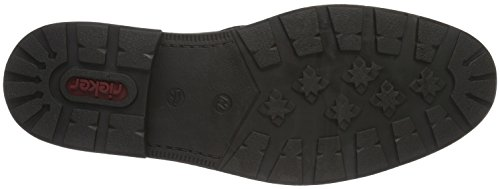 Rieker 15350, Botines para Hombre Negro (Schwarz)