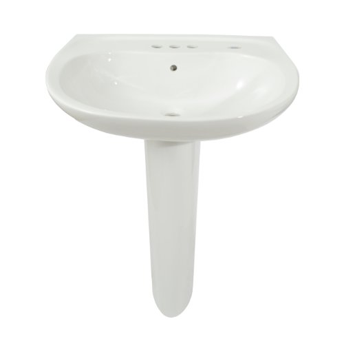 TOTO LPT242.4G#01 Prominence Lavatory and Pedestal with 4-Inch Centers, Cotton White