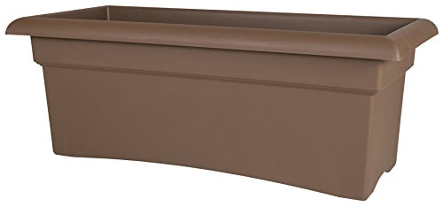 Bloem Fiskars 26 Inch Veranda 3 Gallon Rectangular Planter, - Planter Resin Electric