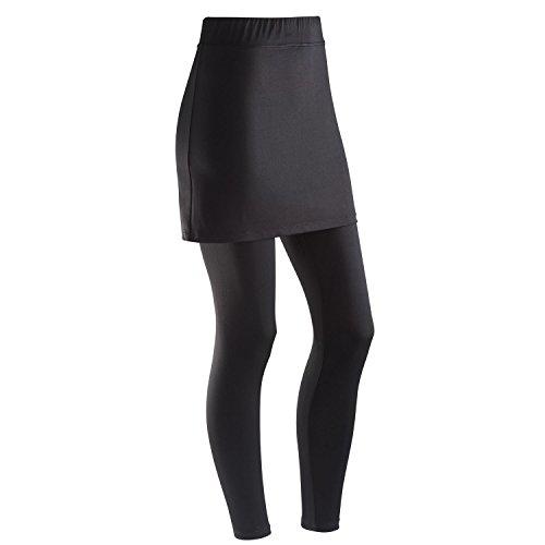 Sexy Clothing Catalogs - CATALOG CLASSICS Women's Skirted Leggings - Black Ankle-Length Leggings with Attached Skirt - Medium