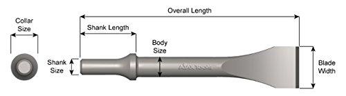Ajax Tool Works 955 .498 Shank 1-5/16″ Wide Chisel and Scraper, 7″ Length, Metal